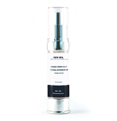 DMAE+MSM+HA Hydrating Serum NEW Spa, 20ml, with Organic Content 70%, Not Scented, for Mature Skin. Includes Hyaluronic Acid and Vitamin Complex
