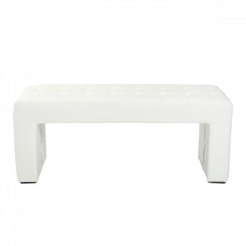 Design Karina Trend Modern Bench Leather White Amazon Co Uk