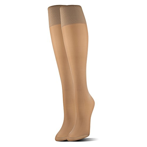 MediPeds Women's Mild Compression Support Knee High Socks Fit, 1 Pair