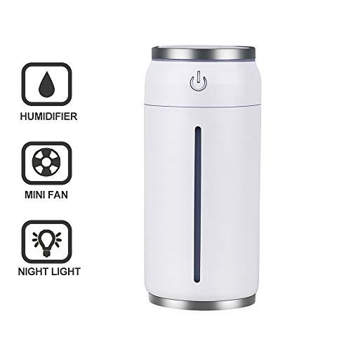 Humidificador Ultrasónico Portátil, 3 IN 1 Difusor de aceite esencial de aromaterapia - capacidad de 220ml, luz y...
