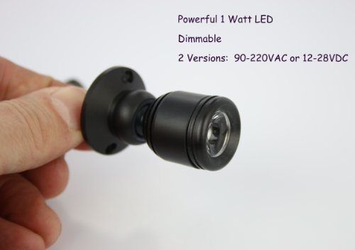 (PilotLights Micro Pivoting LED Spotlight - 1 Watt High Power LED - Tiny Size, Warm White LED )
