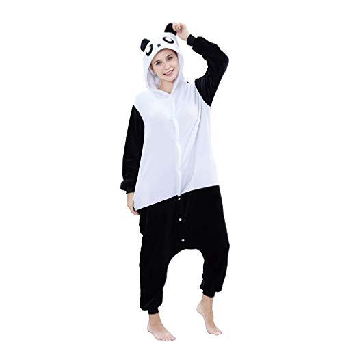 IDGIRL Adult Panda Cosplay Pajamas for Women with Opening Animal Costume Black, M, One -