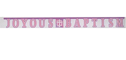- Pink Joyous Baptism Jointed Banner 8-1/2 feet long