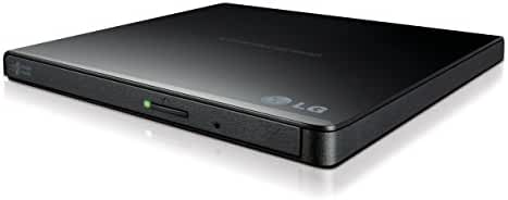 LG Electronics 8X USB 2.0 Super Multi Ultra Slim Portable DVD Writer Drive +/-RW External Drive with M-DISC Support (Black) GP65NB60