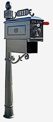 Imperial Mailbox - Imperial mailbox system 311-K-6 with newspaper holder