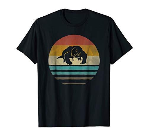 Komodo Dragon Shirt Retro Vintage Silhouette Distressed