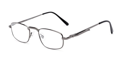 Readers.com | The Anderson +2.25 Grey Rectangle Stylish Men's & Women's Full Frame ()