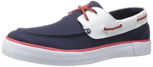 Polo Ralph Lauren Men's Lander II Fashion Sneaker,Newport Navy/Pure White,8.5 D US
