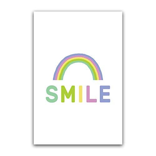 Smile Nursery Wall Art, Kid Poster, Children Decor Gift, Boy