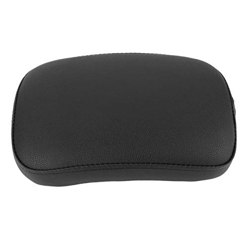 anyilon Black Motor Rear Passenger Cushion with 6 Suction Covers for Harley Dyna Sportster Softail Touring XL883 1200 X48