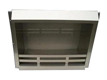 Combustion Chamber Bio Ethanol Gel Fireplace Insert Steel Black 48,5x41x23 cm