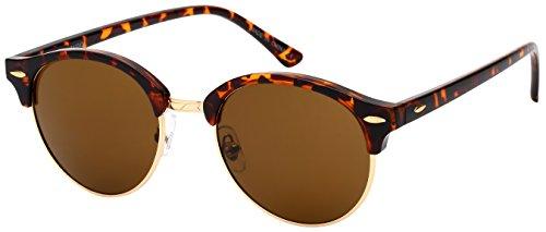 Edge I-Wear Classic Half Frame Horned Rim Sunglasses - Wire Trend Rim Glasses