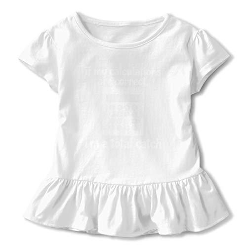 Lookjufjiii80 Toddler Girl Math Calculator Short Sleeve Dress Ruffle T-Shirt Blouse Casual Clothes White -