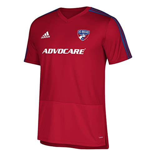 adidas FC Dallas MLS Men's Red Climacool 2018 Team Color Training Jersey (L)