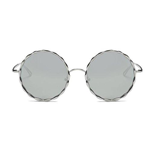 ONEMORES Sunglasses Vintage Retro Round Glasses Unisex Aviator Mirror Lens Travel Sunglasses - Shades R Sol