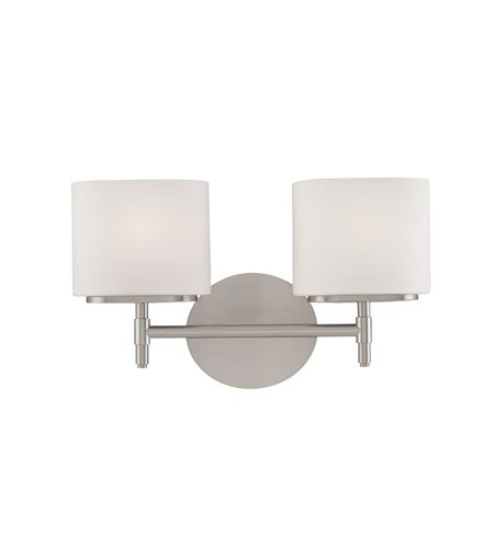 Hudson Valley Lighting 8902-SN Two Light Bath Bracket from the Trinity collection 2, Satin Nickel