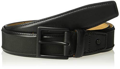 [해외]Cole Haan Men`s 35mm Nylon Inlay Belt with Leather Trim / Cole Haan Men`s 35mm Nylon Inlay Belt with Leather Trim, Matte Black, 36