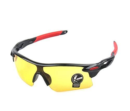 b40369cb1c9 Runworld Men s HD Night View Driving Glasses Polarized Anti-Glare Rain Day  Night Vision Cycling