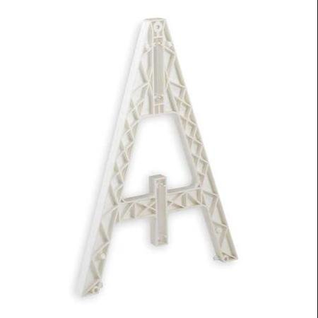 Cortina Safety Products Group White Plastic Traffic Barricade A-Frame With Closed Bottom With Weight Cartridges Attached