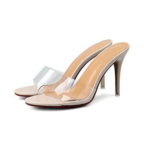 Suave Alto Verano De Elegante Finos nbsp; Material Urtjsdg nbsp; Tacones Tacón Ligeras Zapatillas Zapatos Transparentes Sandalias 5 Refinamiento nbsp;y tTw4wxqz5