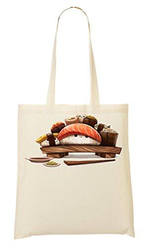 Cute Sushi table artwork Bolso De Mano Bolsa De La Compra