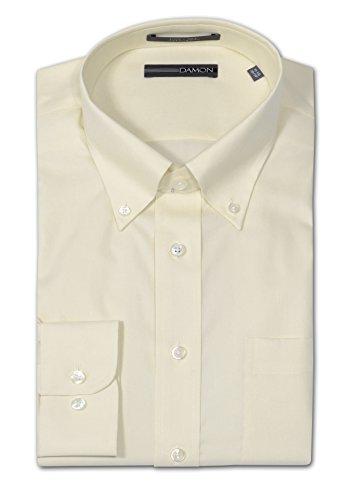 (Damon Long Sleeve Ultra Pinpoint Button Down Oxford Dress Shirt (16.5