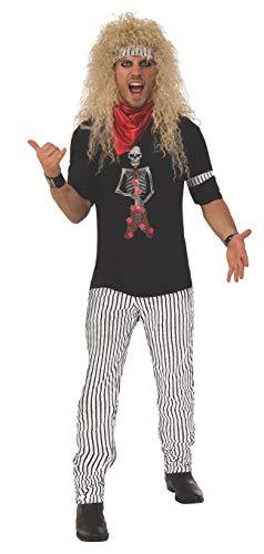 Rubie's Men's 80's Hairband Costume, As Shown, Standard