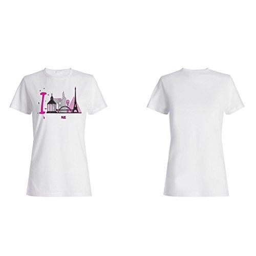 Neu Ich Liebe Paris Frankreich Kunst Damen T-shirt m590f