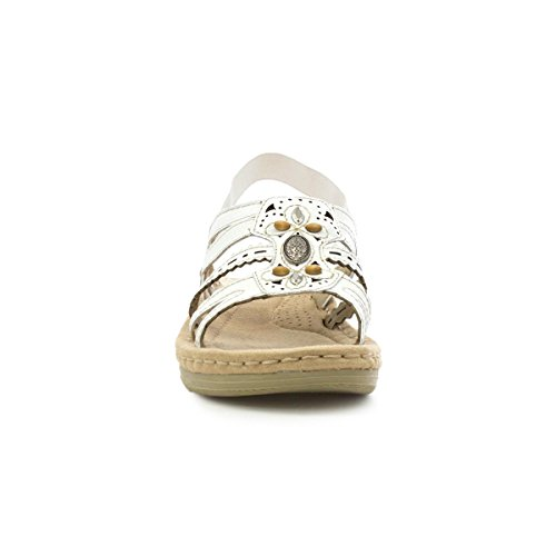 Spirit Womens White Casual Sandal Earth dpzq7d
