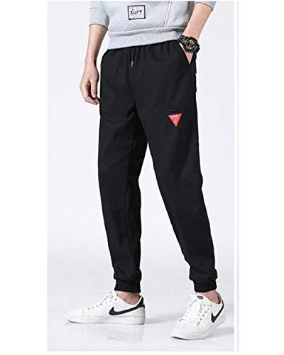 Comode Con Coulisse Piccole Uomo Nero Da Jogging Taglie Toppe In Hip Pantaloni Completi Abiti Stile Hop Casual a8zcY