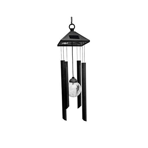 Fovolat | Colorful Wind Bell Light Solar LED Wind Bell Light Outdoor Landscape Garden Light Decorative Chandelier Hanging Light