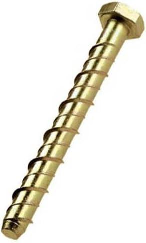 5//16 inch x 3 inch Merriway BH03046 Bulk Hardware Concrete//Masonry Screw Anchor Hex Head Bolt - Pack of 10 M8 x 75mm