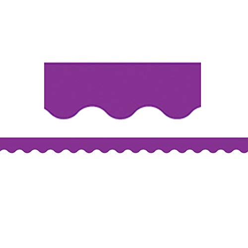 Teacher Created Resources Purple Scalloped Border -