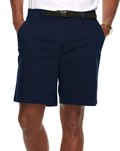 Croft & Barrow Men's Classic-Fit Twill Belted Outdoor Shorts (Night Life Blue, 38)