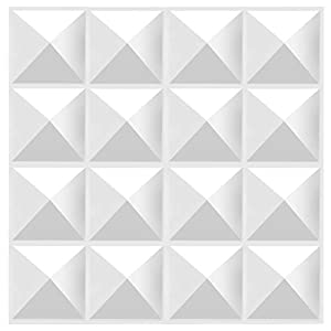 Flashandfocus.com 31Ohchr7PvL._SS300_ TroyStudio Acoustic Sound Diffuser Panel 12 X 12 X 1 Inches Pack of 4, Studio Diffuser Wall Decor