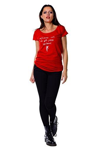 mujer Voll museau rojo camiseta Rouge 3elfen Cwxq815n
