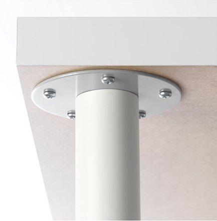 IKEA OLOV Adjustable Metal Table Legs - Steel, White [Set of 4] by IKEA (Image #1)