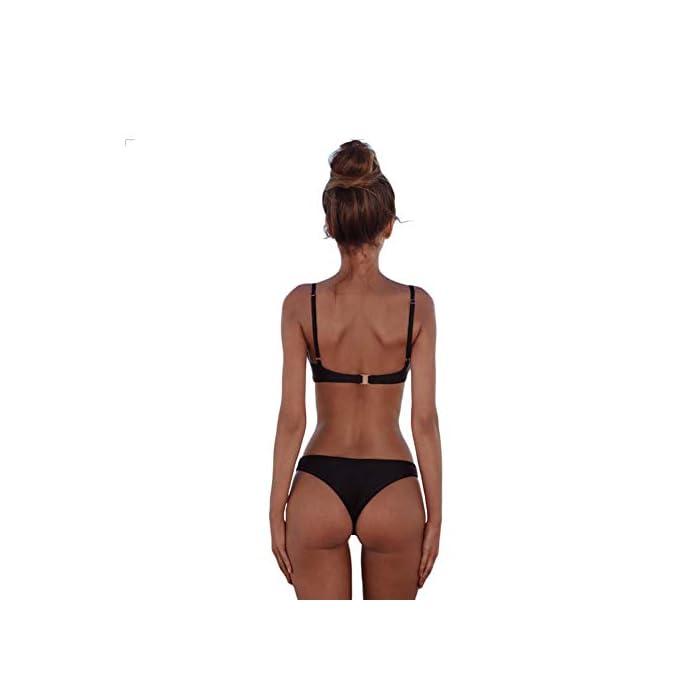 31Ohg4AcNyL ♥ Material del traje de baño: nylon 82% + spandex 18%. Bañadores con tejidos de alta calidad y confortables, disfrutan de un suave baño. ♥ Diseño: mostrar la curva del cuerpo, sexy y delgada. 82% Poliamida, 18% Elastano