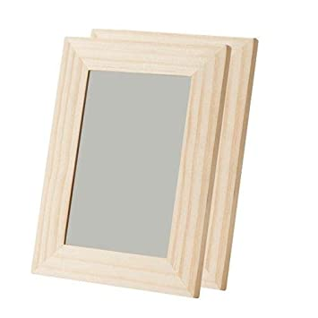 Amazon De Ikea Bemalbarer Unbehandelter Holz Bilderrahmen Im 2 Er