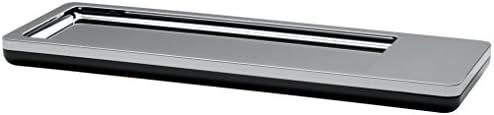 HAN Stiftschale i-Line CHROME 27650-88 in Chrome / Elegante, moderne Stiftablage mit Magnet / Für einen stylischen Schreibtisch