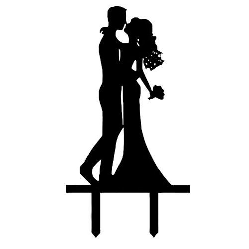 Kissing Couple Cake Topper - 8
