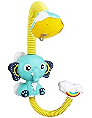 1pc Baby Bath Toys 360 Degrees Electric Elephant Animal Sucker Shower Rain Head Children Bathing Time Game Toy