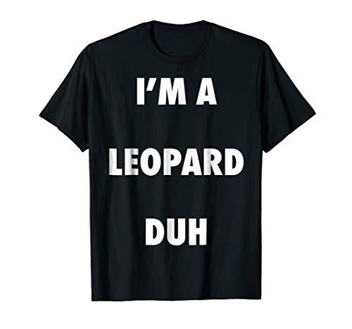 Easy Halloween Leopard Costume Shirt for Men Women Kids