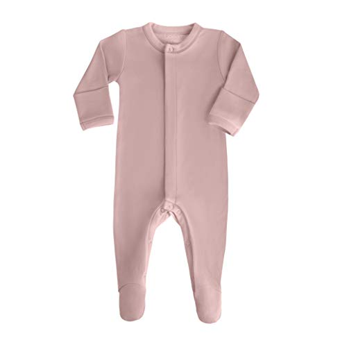 rganic Cotton Footie Sleeper with Mittens-Clothes for Girls with Long Sleeves in Mauve ()
