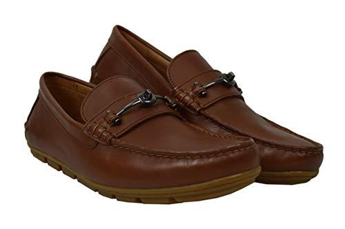 ignature Logo Genuine Leather Mott Driver Loafer Shoes Dark Saddle Brown (11.5 D US) ()
