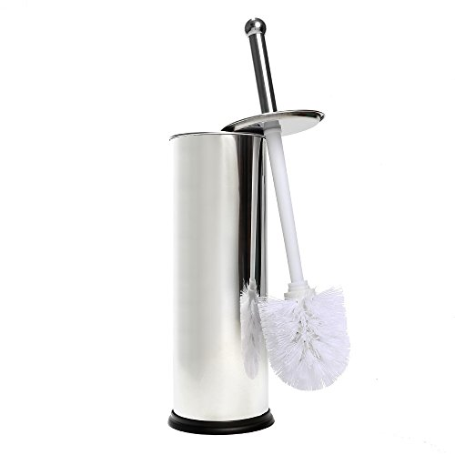 Home Intuition Chrome Toilet Brush and Holder