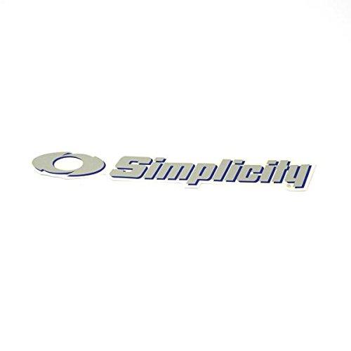 Briggs and Stratton 1722551SM Decal - Simplicity, Silver