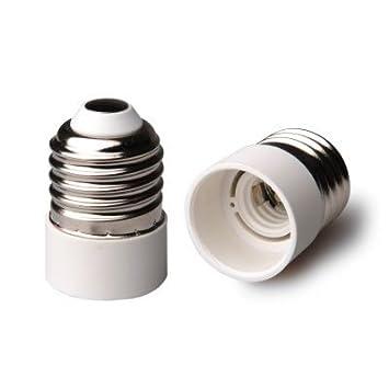 RuiChy - Adaptador para bombillas con casquillo de rosca pequeña E14 SES a casquillo GU10 - Adaptador para bombillas LED, blanco: Amazon.es: Bricolaje y ...