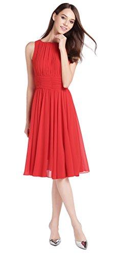 Kleid knielang rot