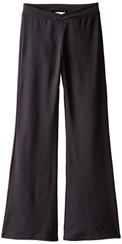Capezio Big Girls' Tactel Jazz Pant, Black, Large